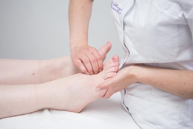 manuale lymfedrainage voet