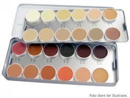 palet met alle dermacolor kleuren